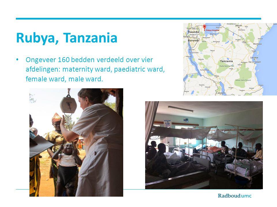 Rubya, Tanzania Ongeveer 160 bedden verdeeld over vier