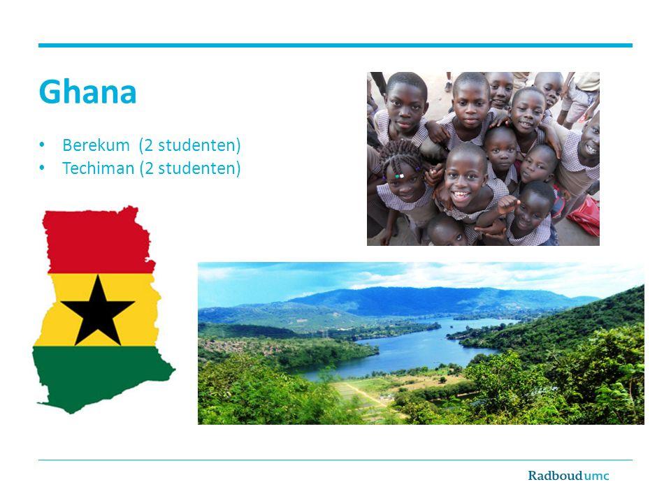 Ghana Berekum (2 studenten) Techiman (2 studenten)