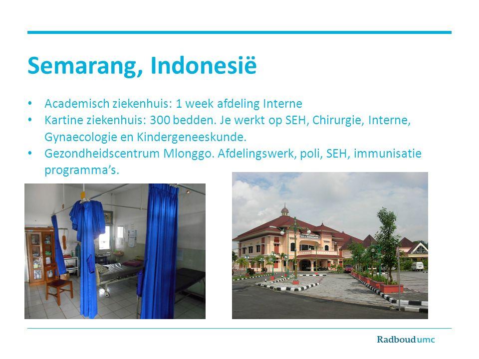 Semarang, Indonesië Academisch ziekenhuis: 1 week afdeling Interne