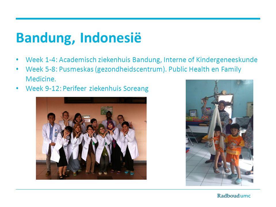 Bandung, Indonesië Week 1-4: Academisch ziekenhuis Bandung, Interne of Kindergeneeskunde.