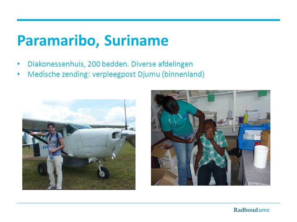 Paramaribo, Suriname Diakonessenhuis, 200 bedden. Diverse afdelingen