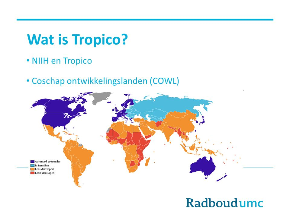 Wat is Tropico NIIH en Tropico Coschap ontwikkelingslanden (COWL)