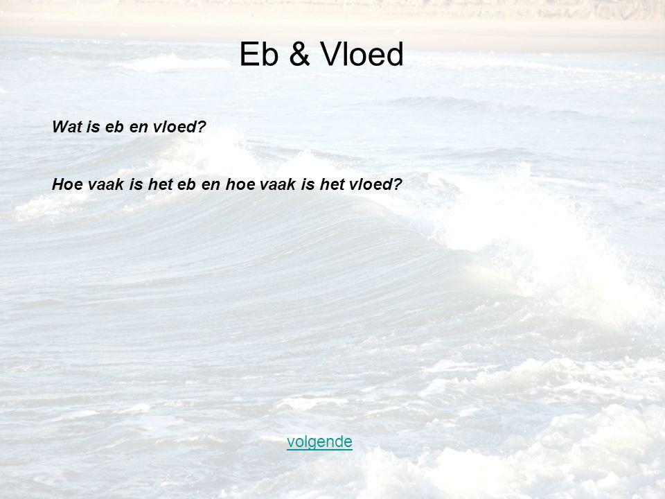 Eb & Vloed Wat is eb en vloed