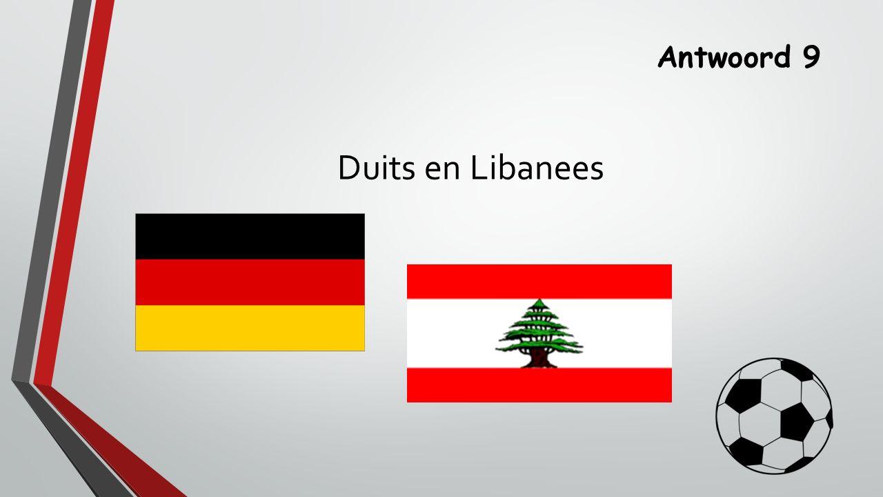 Antwoord 9 Duits en Libanees