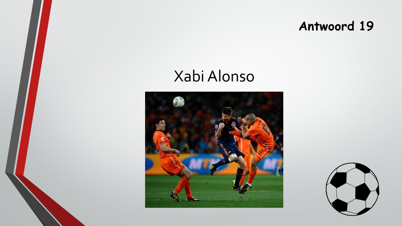 Antwoord 19 Xabi Alonso