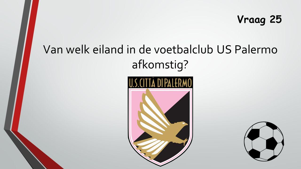 Van welk eiland in de voetbalclub US Palermo afkomstig