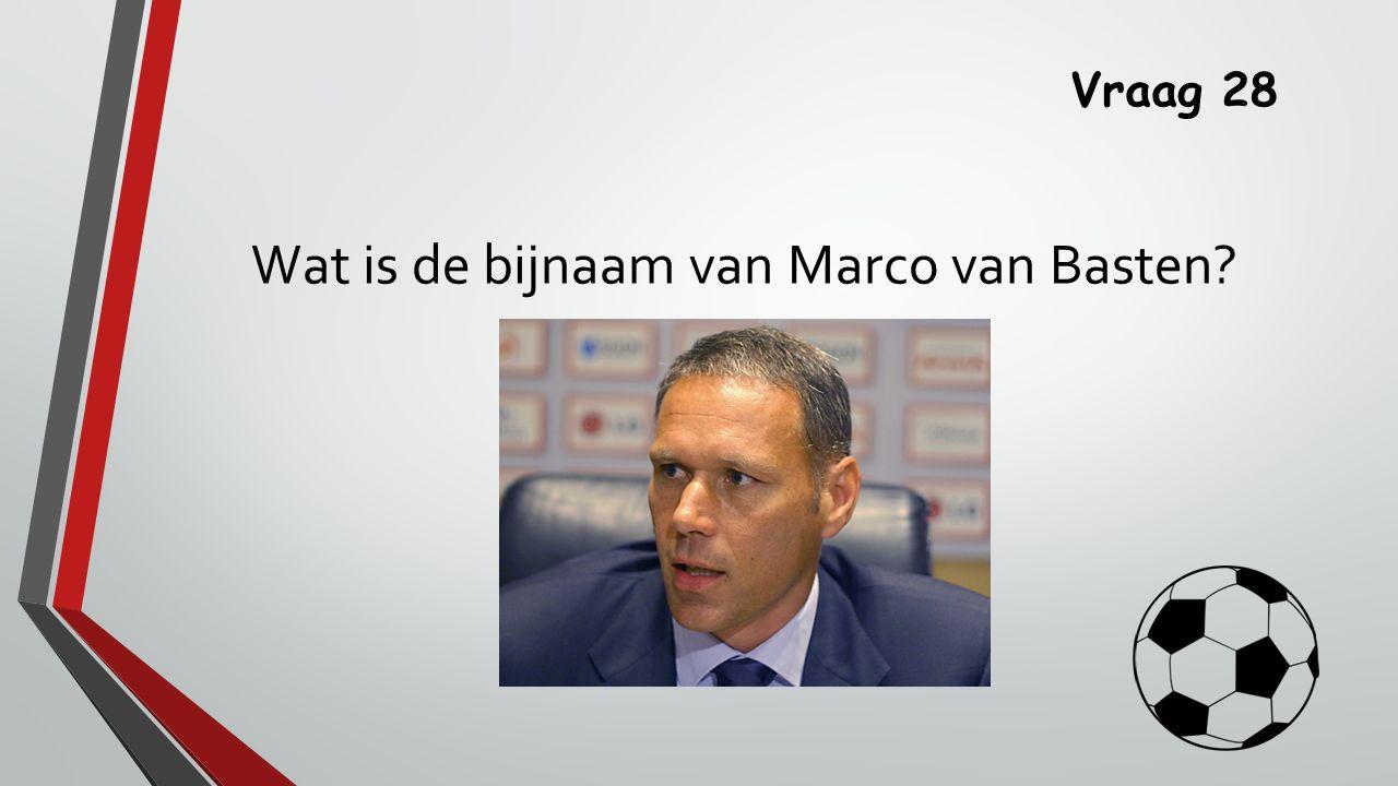 Wat is de bijnaam van Marco van Basten