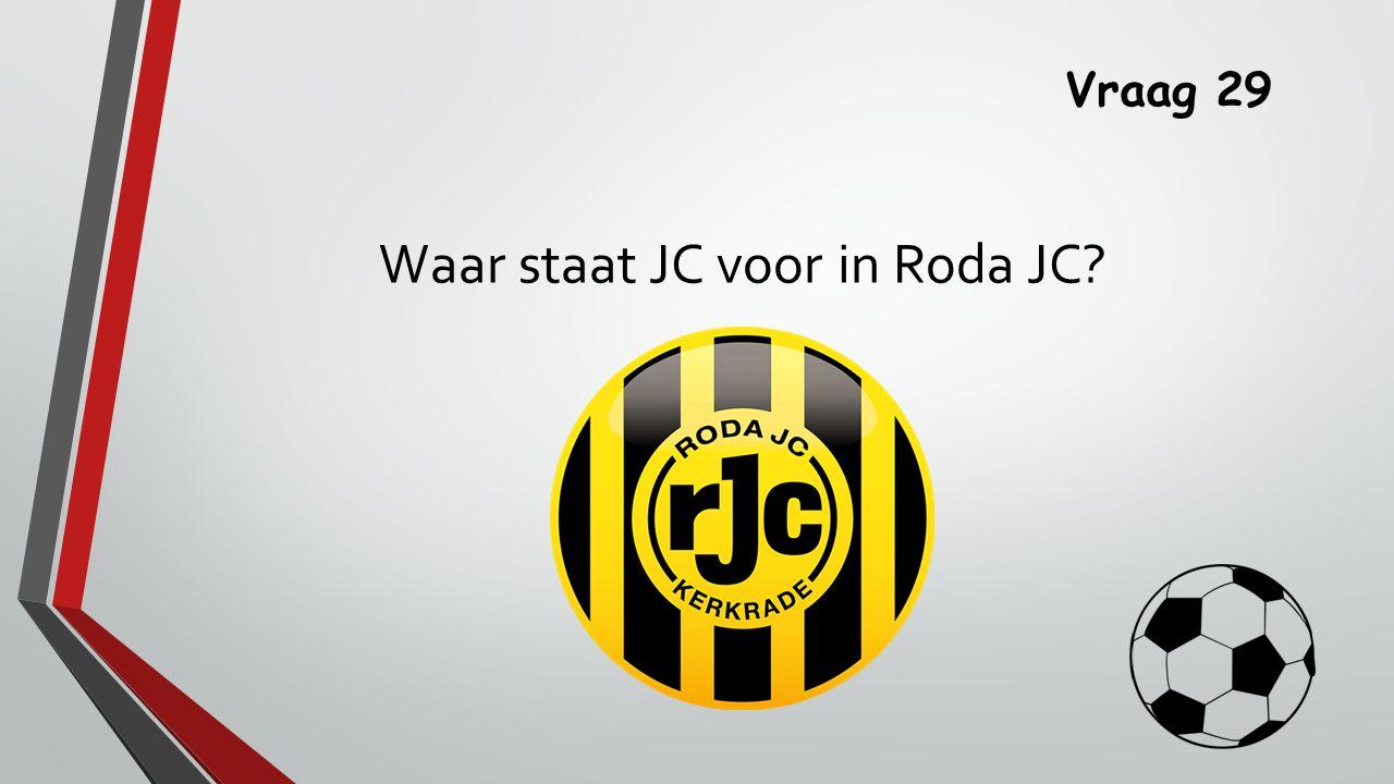 Waar staat JC voor in Roda JC