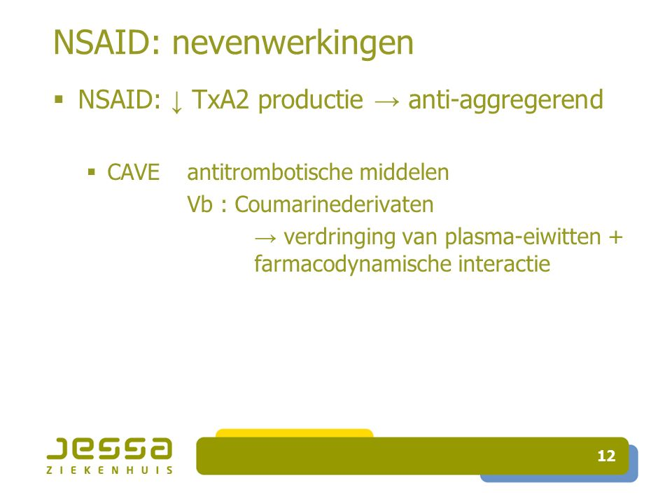 NSAID: nevenwerkingen