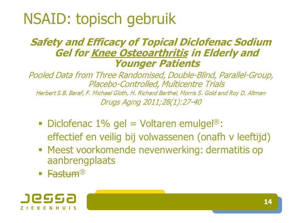 NSAID: topisch gebruik
