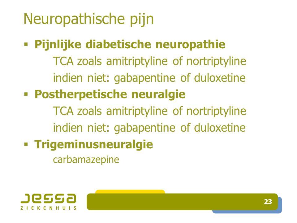 Neuropathische pijn Pijnlijke diabetische neuropathie