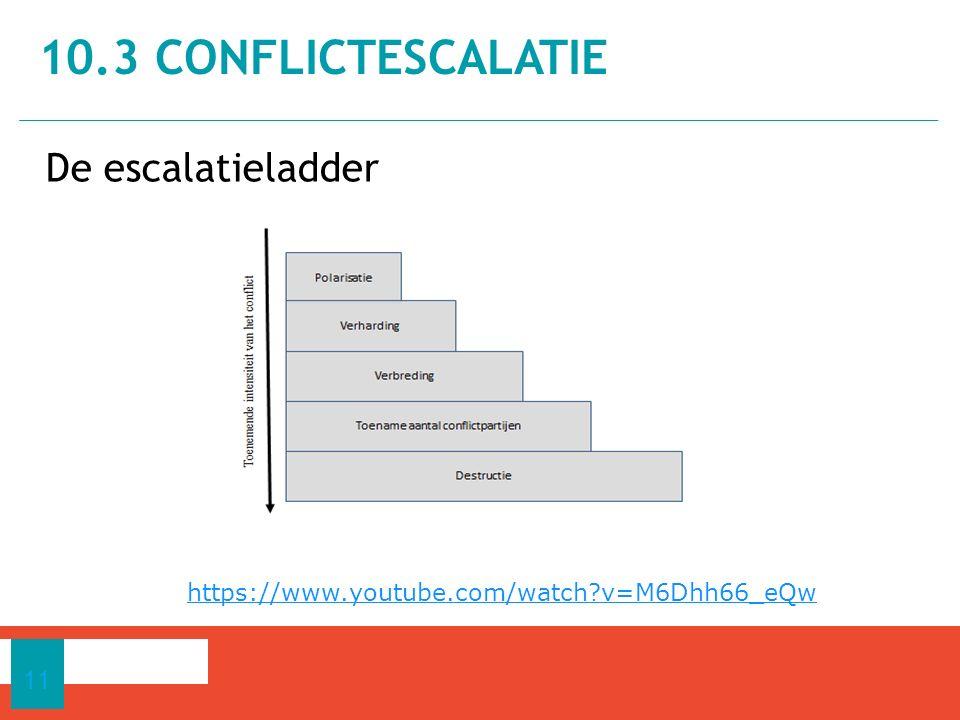 10.3 Conflictescalatie De escalatieladder