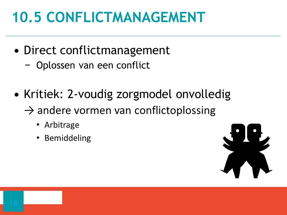 10.5 CONFLICTMANAGEMENT Direct conflictmanagement