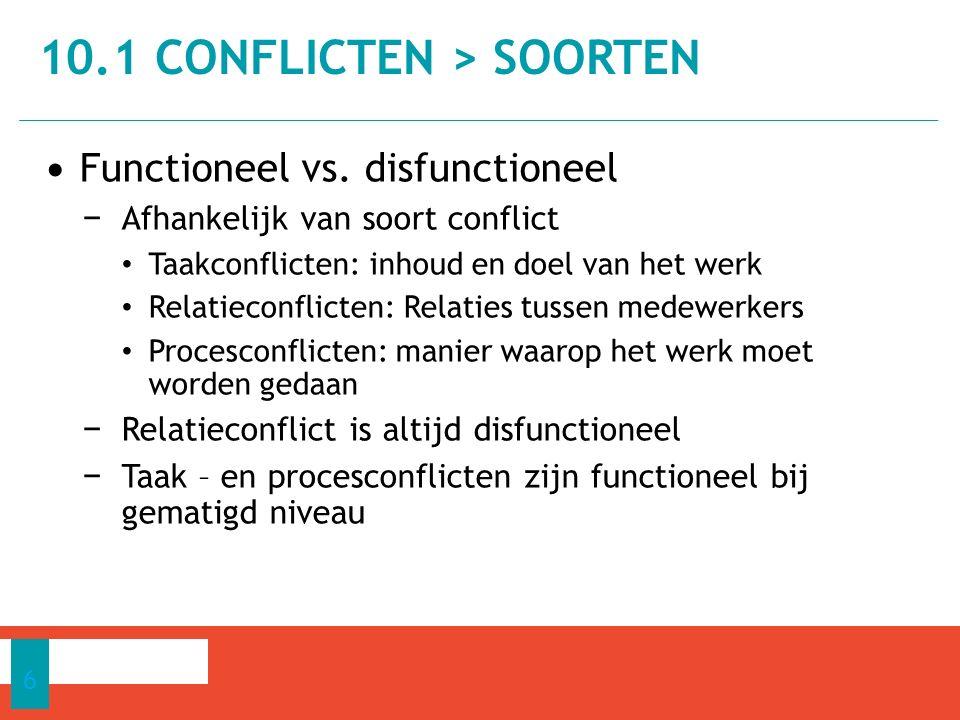 10.1 Conflicten > Soorten