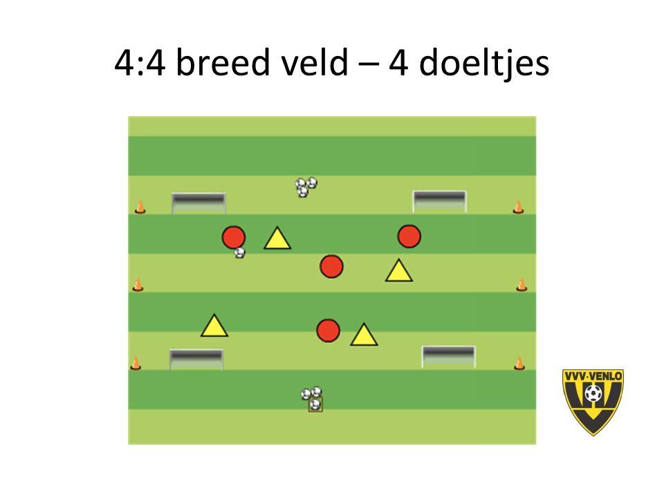 4:4 breed veld – 4 doeltjes