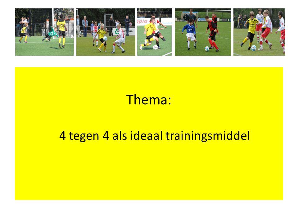 4 tegen 4 als ideaal trainingsmiddel
