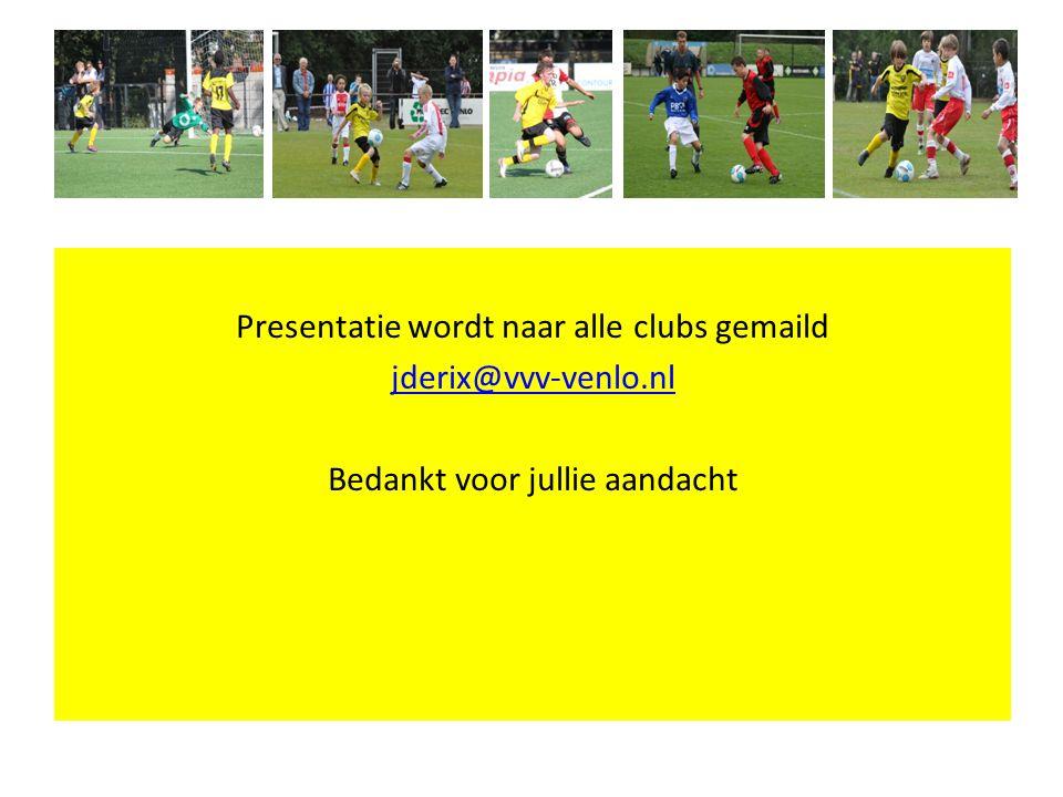 Presentatie wordt naar alle clubs gemaild jderix@vvv-venlo
