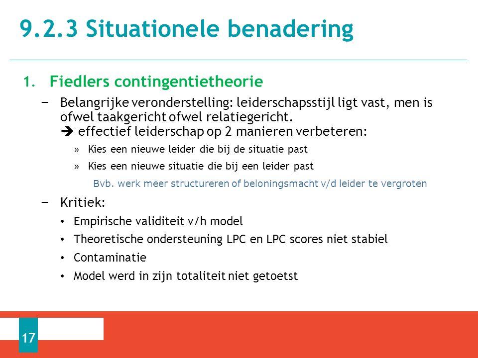 9.2.3 Situationele benadering