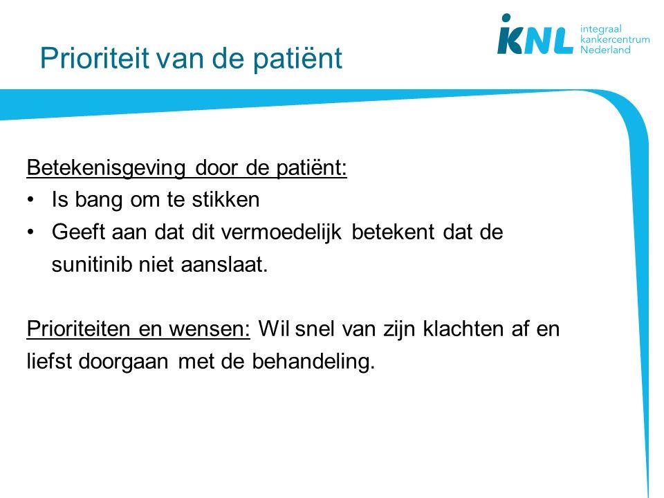 Prioriteit van de patiënt