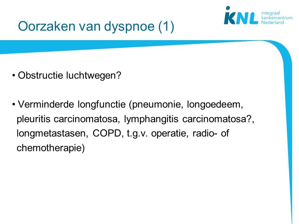 Oorzaken van dyspnoe (1)