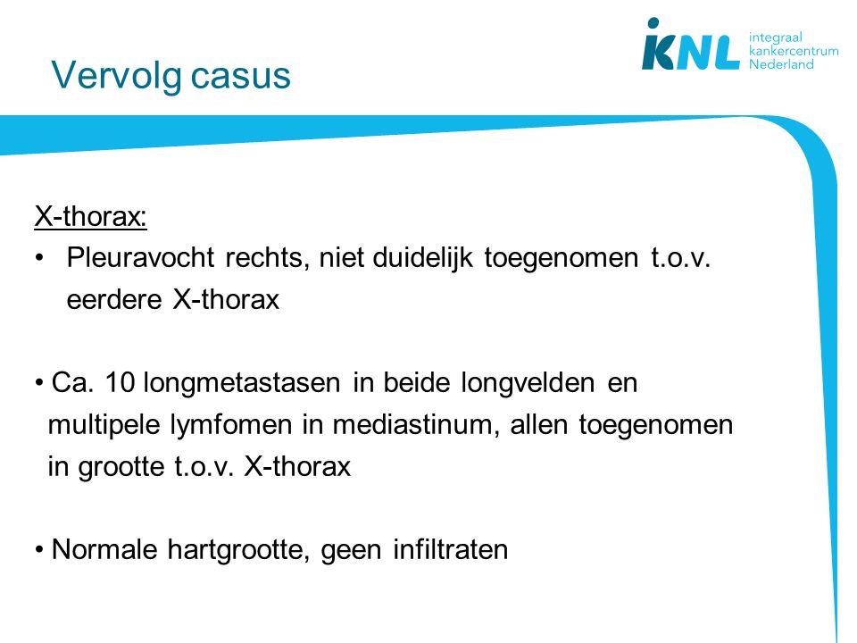 Vervolg casus X-thorax:
