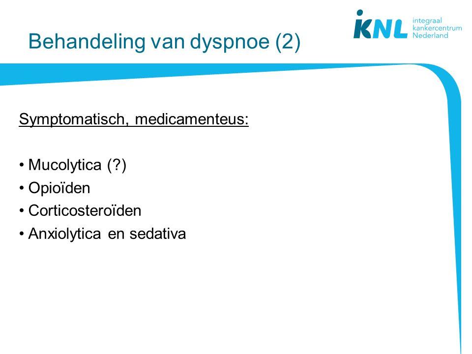 Behandeling van dyspnoe (2)