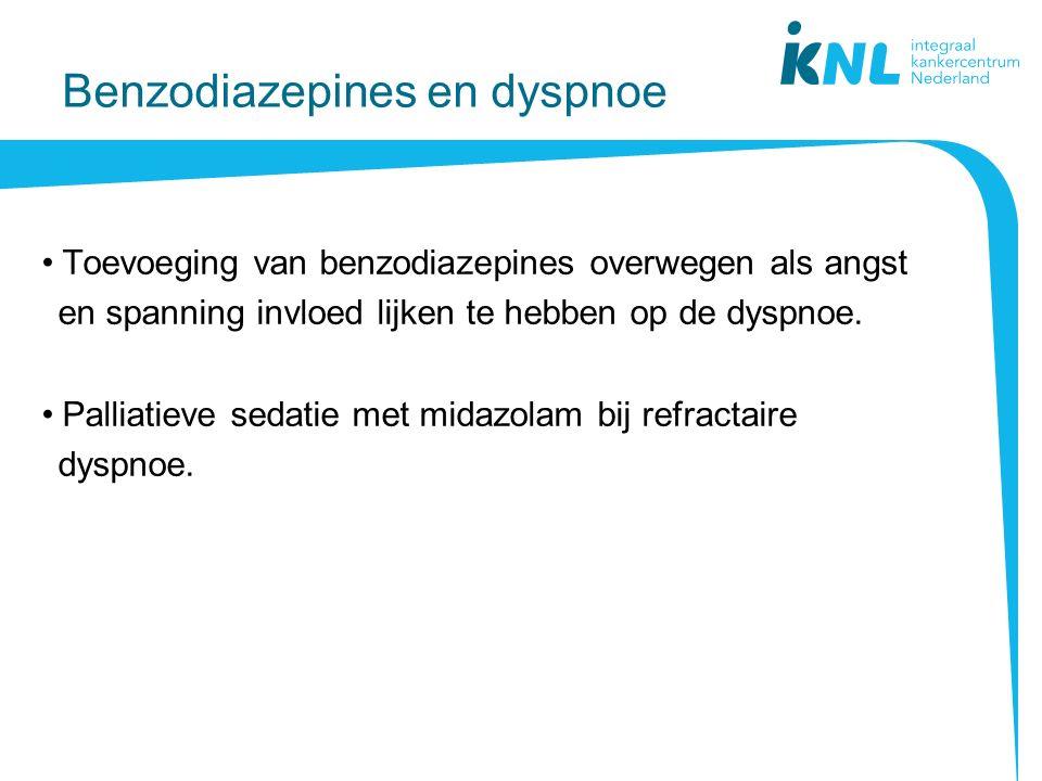 Benzodiazepines en dyspnoe