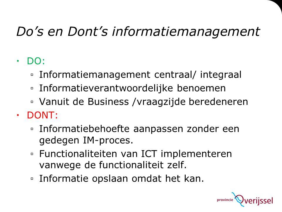 Do's en Dont's informatiemanagement