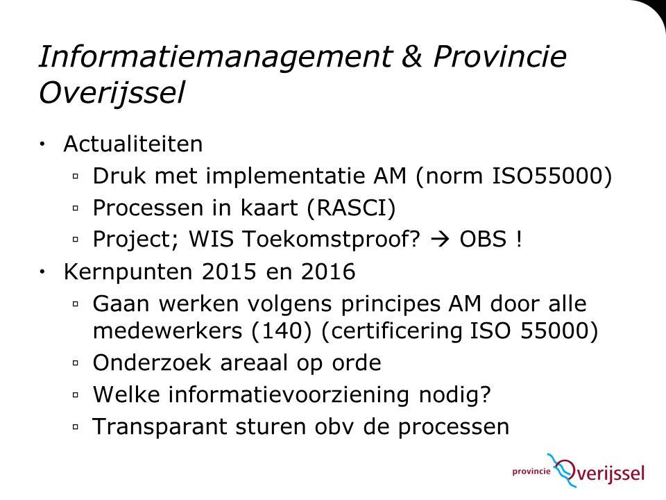 Informatiemanagement & Provincie Overijssel