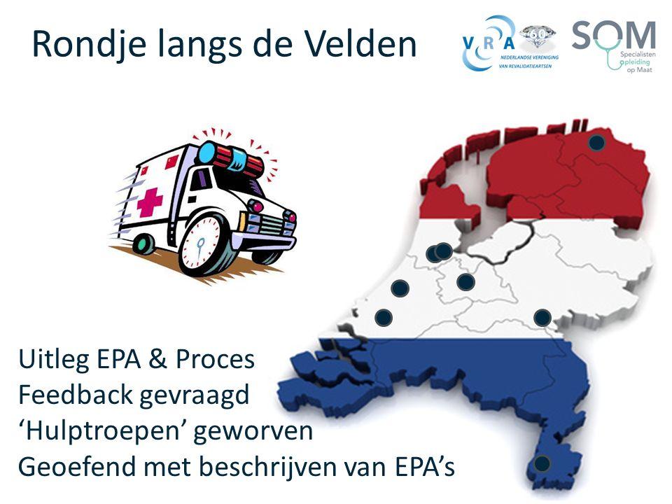 Rondje langs de Velden Uitleg EPA & Proces Feedback gevraagd