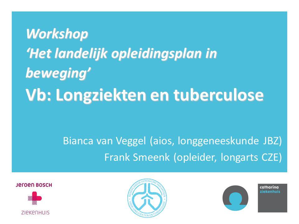Workshop 'Het landelijk opleidingsplan in beweging' Vb: Longziekten en tuberculose