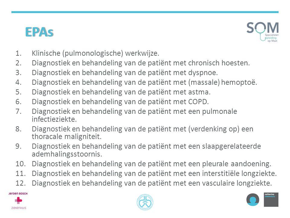 EPAs Klinische (pulmonologische) werkwijze.