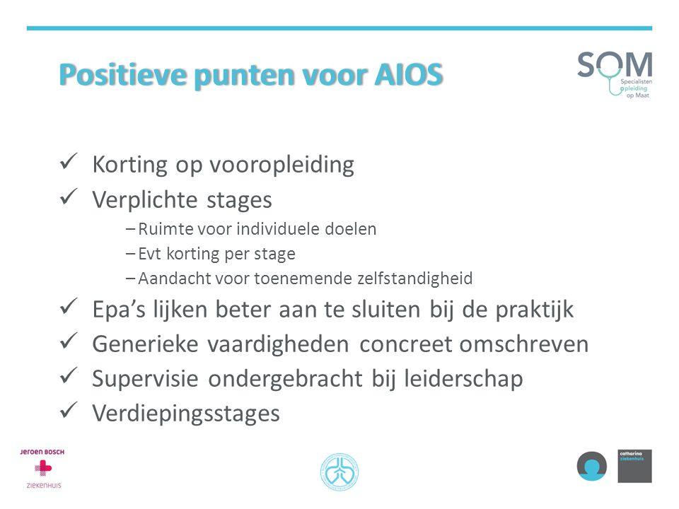 Positieve punten voor AIOS