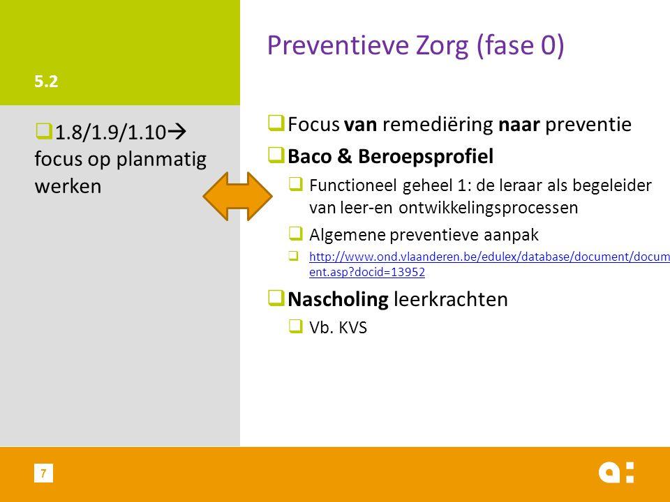 Preventieve Zorg (fase 0)