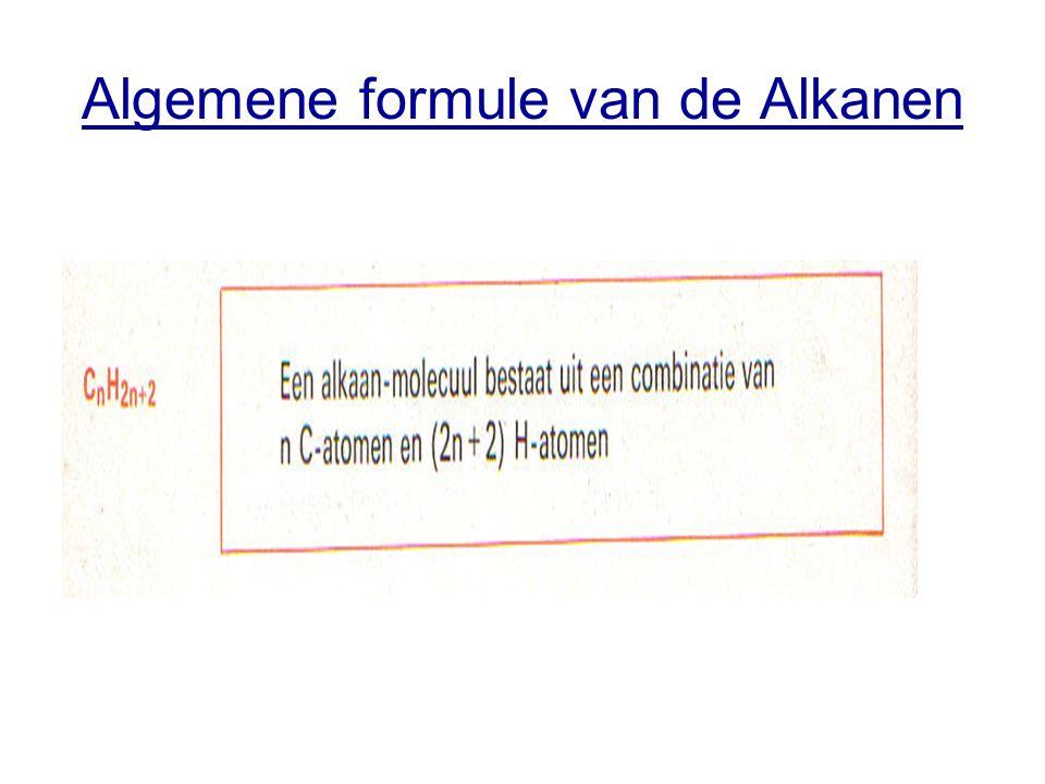 Algemene formule van de Alkanen