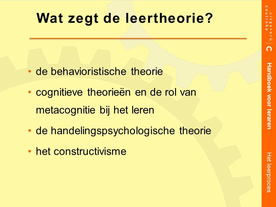 Wat zegt de leertheorie