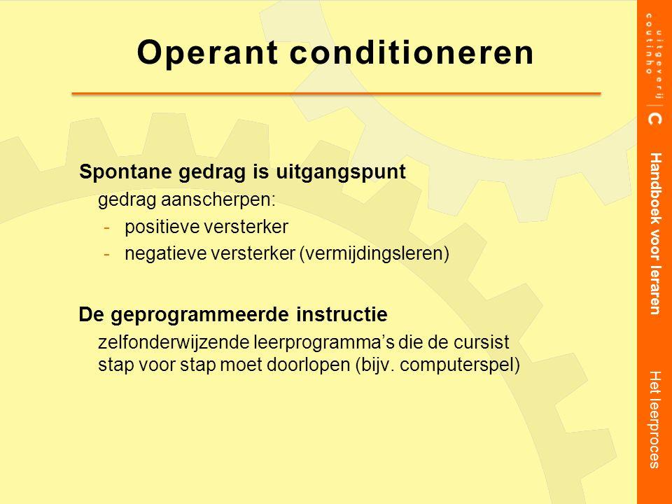 Operant conditioneren