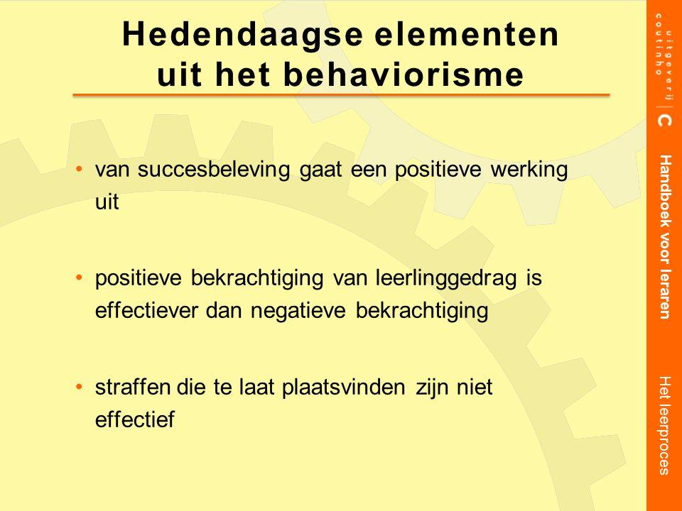 Hedendaagse elementen uit het behaviorisme