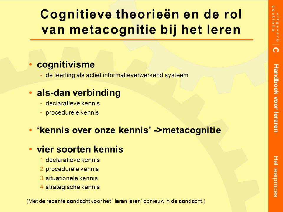 Cognitieve theorieën en de rol van metacognitie bij het leren