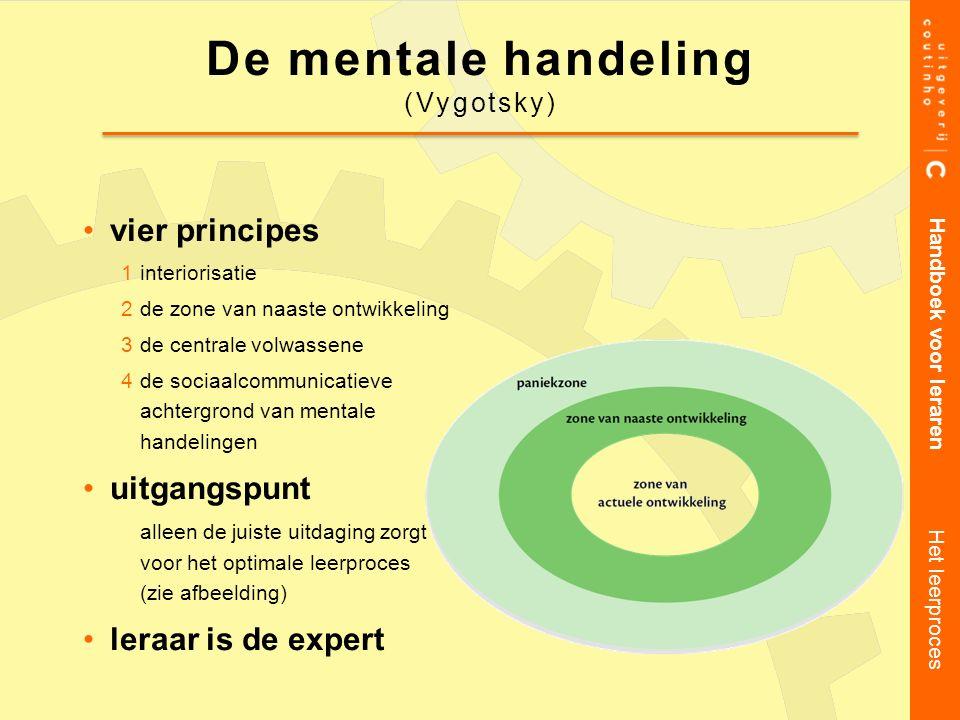 De mentale handeling vier principes uitgangspunt leraar is de expert