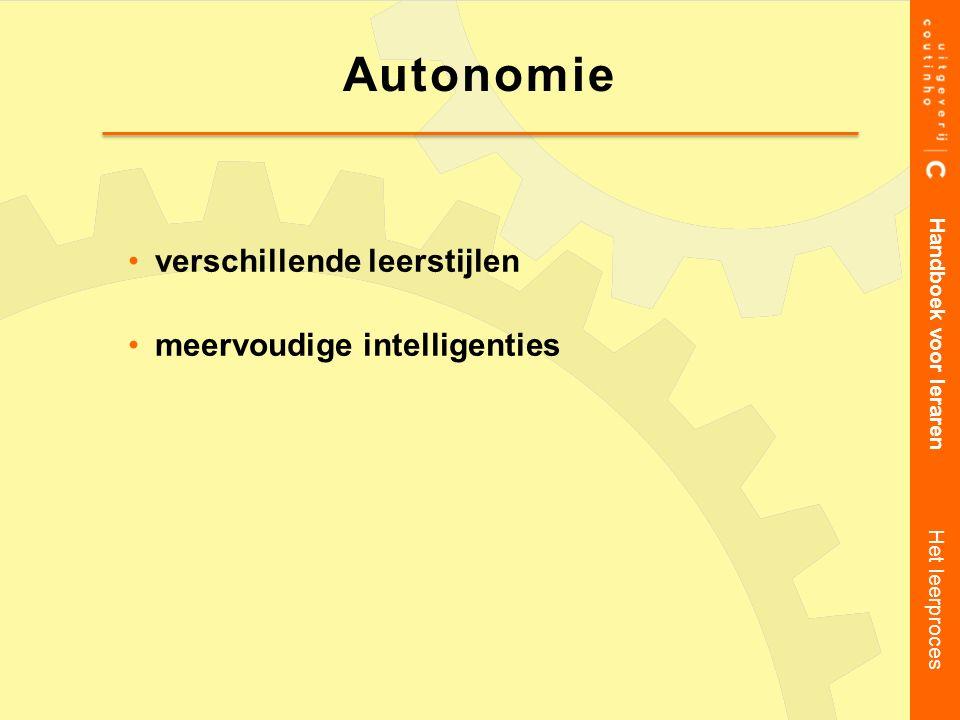 verschillende leerstijlen meervoudige intelligenties
