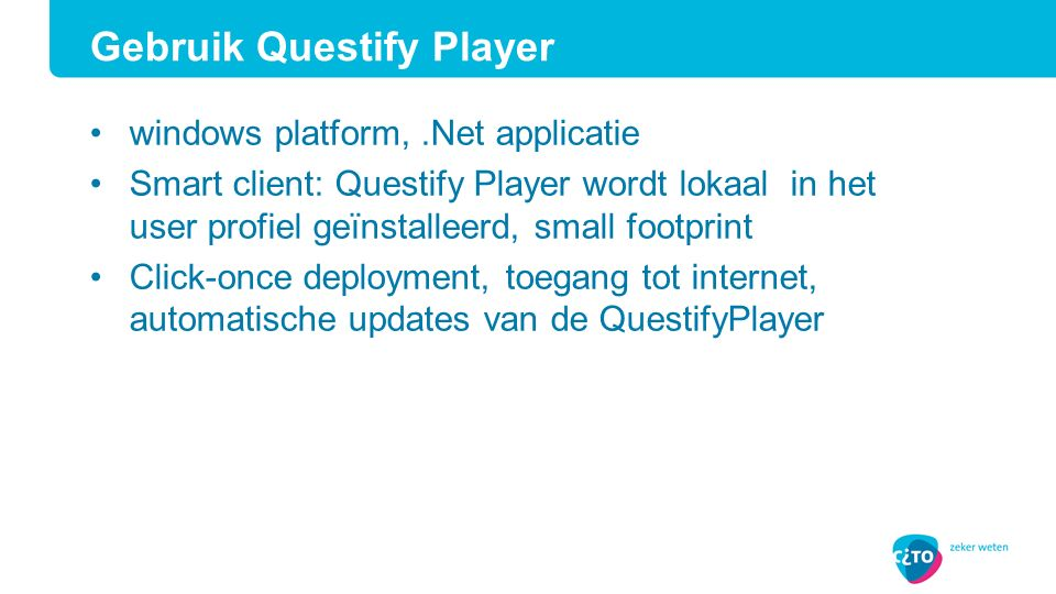 Gebruik Questify Player