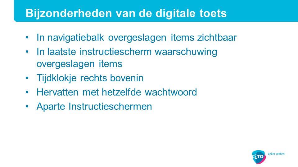 Bijzonderheden van de digitale toets