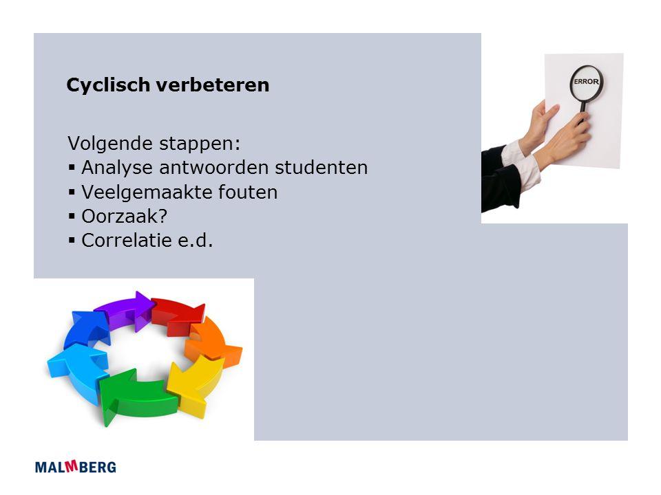 Analyse antwoorden studenten Veelgemaakte fouten Oorzaak