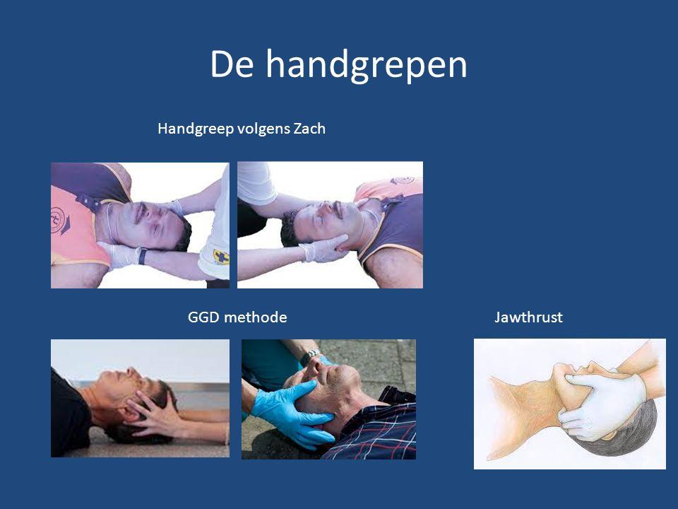 De handgrepen Handgreep volgens Zach GGD methode Jawthrust