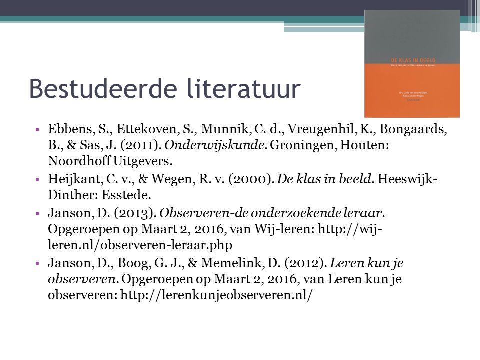 Bestudeerde literatuur