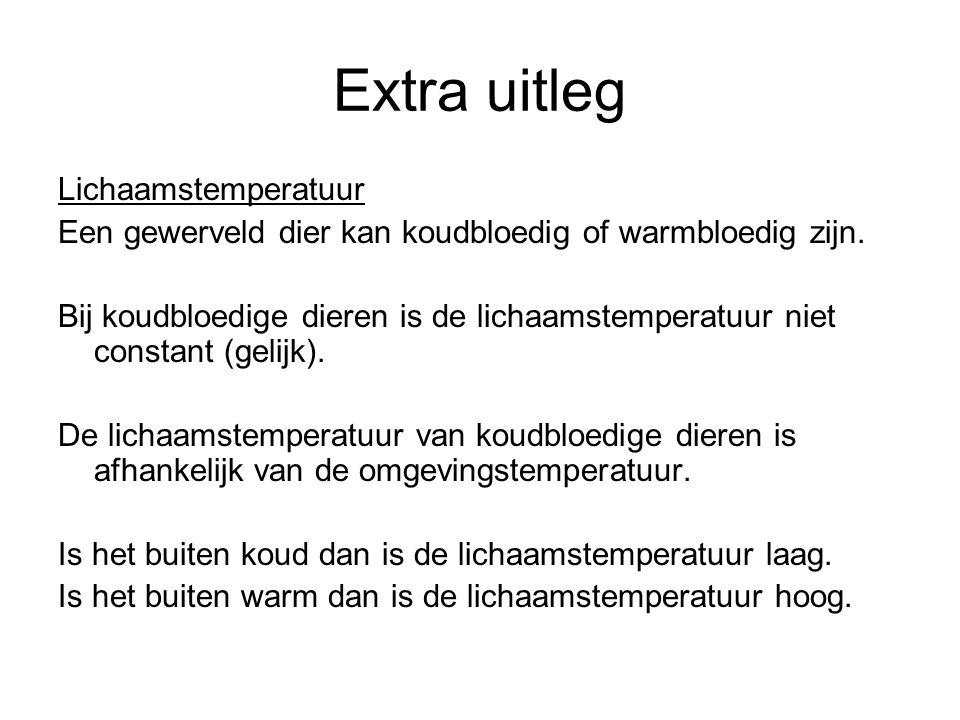 Extra uitleg Lichaamstemperatuur