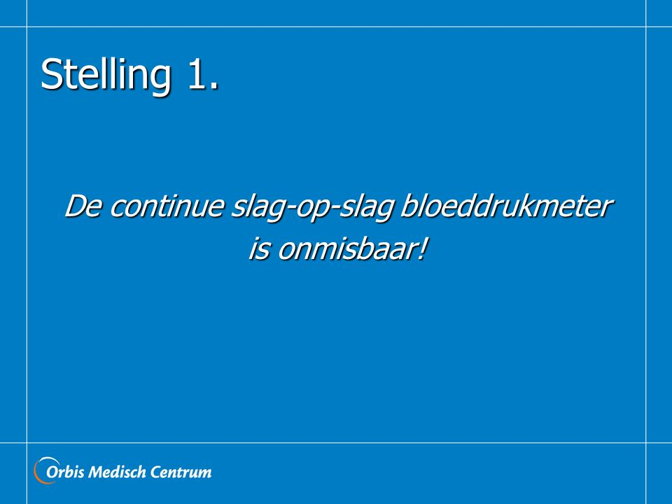 De continue slag-op-slag bloeddrukmeter