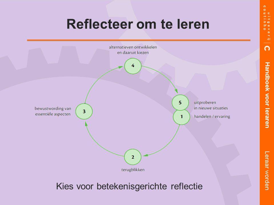 Kies voor betekenisgerichte reflectie