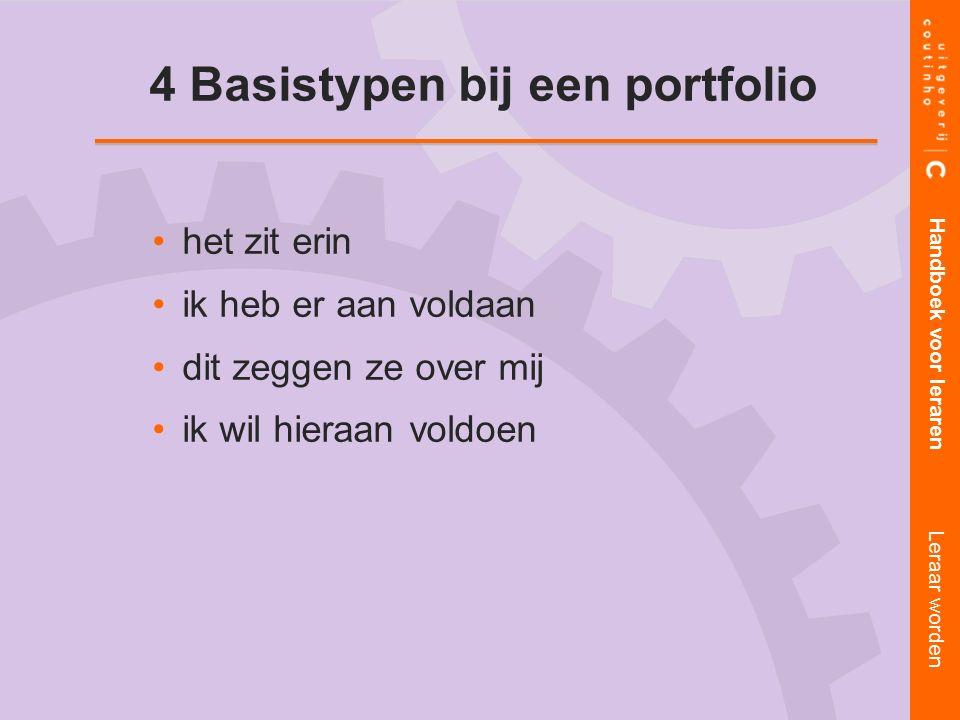 4 Basistypen bij een portfolio